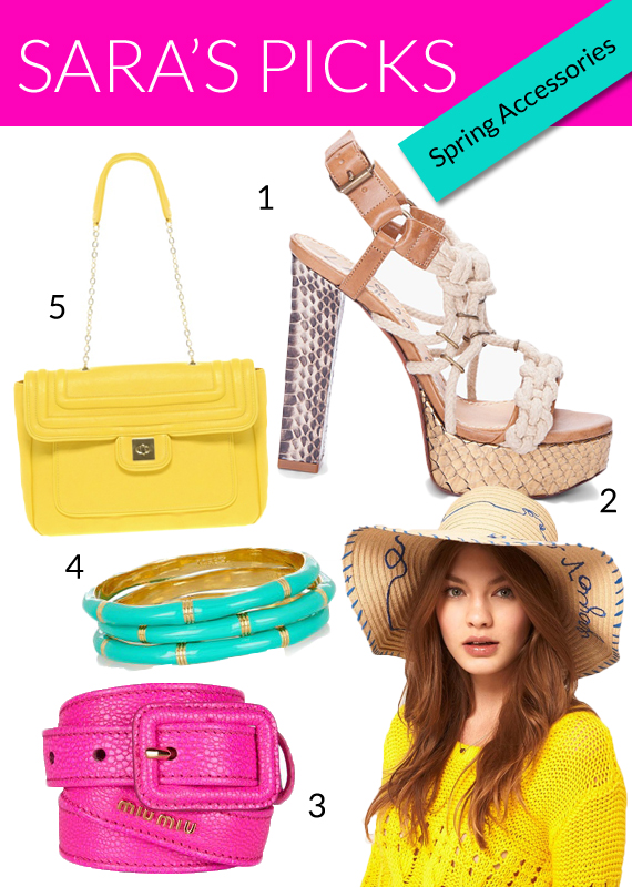 summer 2012 trends bright colored accessories